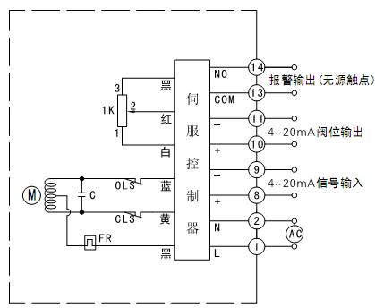 (电动执行器)电气接线图