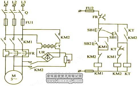 三相电机能耗制动原理图